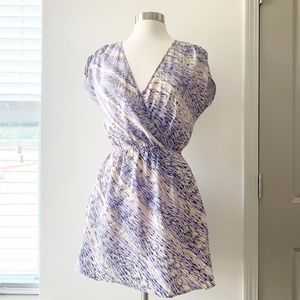 Urban Outfitters Silk Blue & White Dress Medium